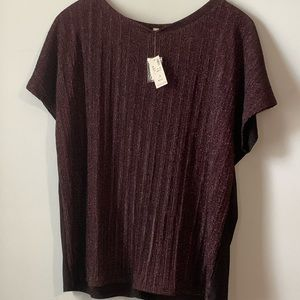 Size 3X Loralette sparkly pink tshirt top
